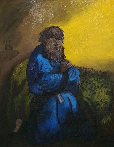 """Biddende Hieronymus"" 30/40 Beschikbaar"